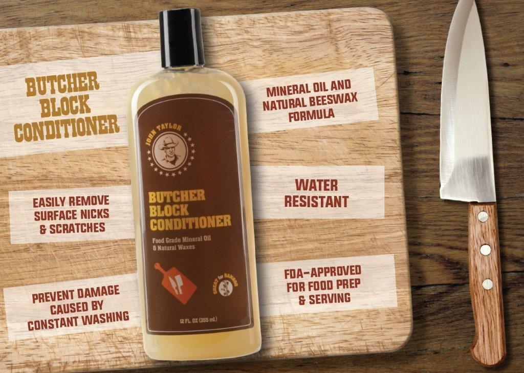 John Taylor Butcher Block Conditioner Food Grade Mineral Oil and Natural Waxes, 12 fl.oz(355ml) by John Taylor (Image #2)
