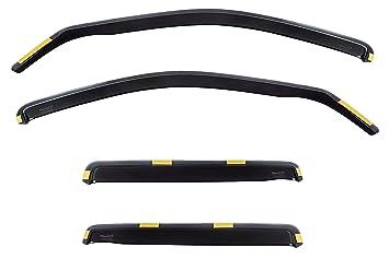 HEKO-17225 Wind Deflectors Fits Hyundai Santa FE 2000-2006 5-Door SUV 4 Pieces