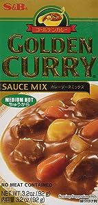 S&B, Golden Curry Sauce Mix, Medium Hot, 3.2 oz