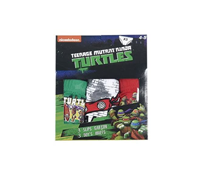 CAJA DE 3 SLIP NINJA TURTLES BOX3SLIP 6/8 AÑOS: Amazon.es ...