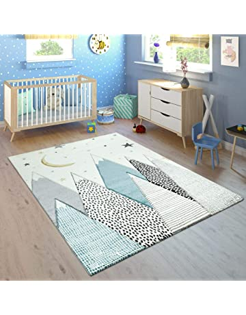 Enfants Animal Gris Tapis Beige Crème Nursery Childrens Play ...