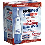NeilMed Sinugator Cordless Pulsating Nasal Wash with 30 Premixed Packets
