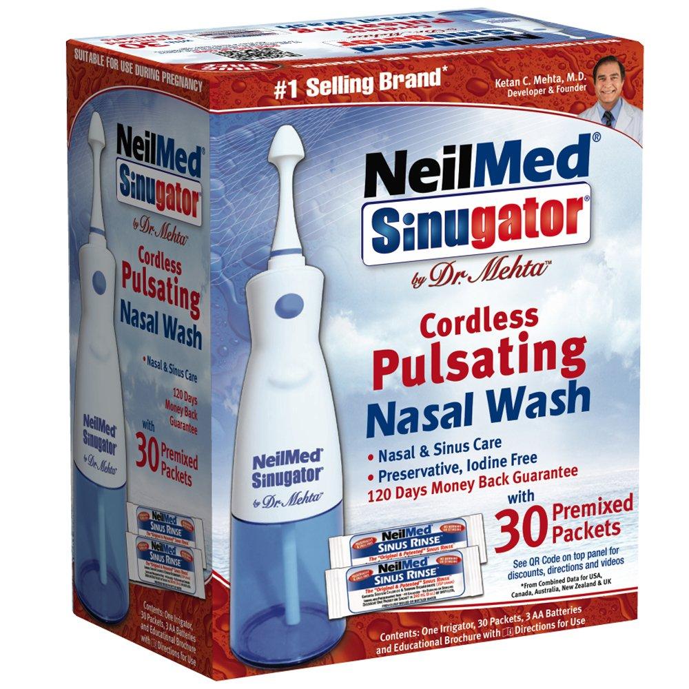 NeilMed Sinugator Cordless Pulsating Nasal Wash: Amazon.co.uk: Health & Personal Care