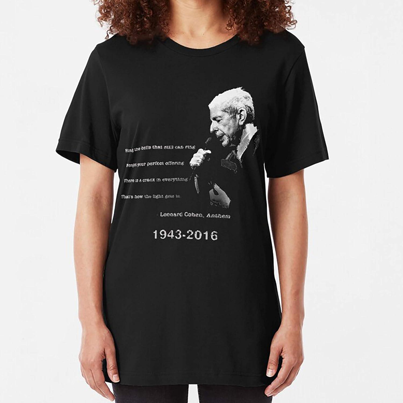 Sweatshirt For Mens Womens Ladies Kids Unisex Hoodie leonard cohen RIP Slim Fit TShirt