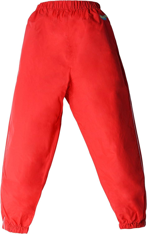 Windproof Splashy Kids Rain Pants Yellow 100/% Waterproof