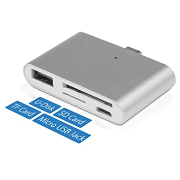 Kupton HUB USB C para Macbook Pro, Adaptador Lector Inteligente de Tarjetas OTG/TF/SD para Macbook Pro/PC Portátil/Móvil con Puerto USB Tipo C: Amazon.es: ...