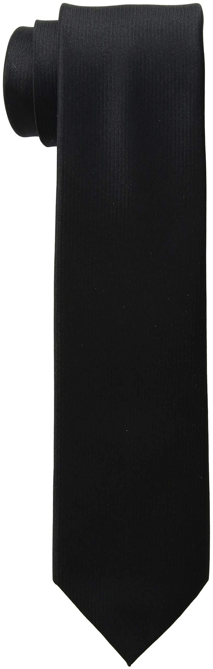 Kenneth Cole REACTION Men's Darien Solid Tie, Black, One Size