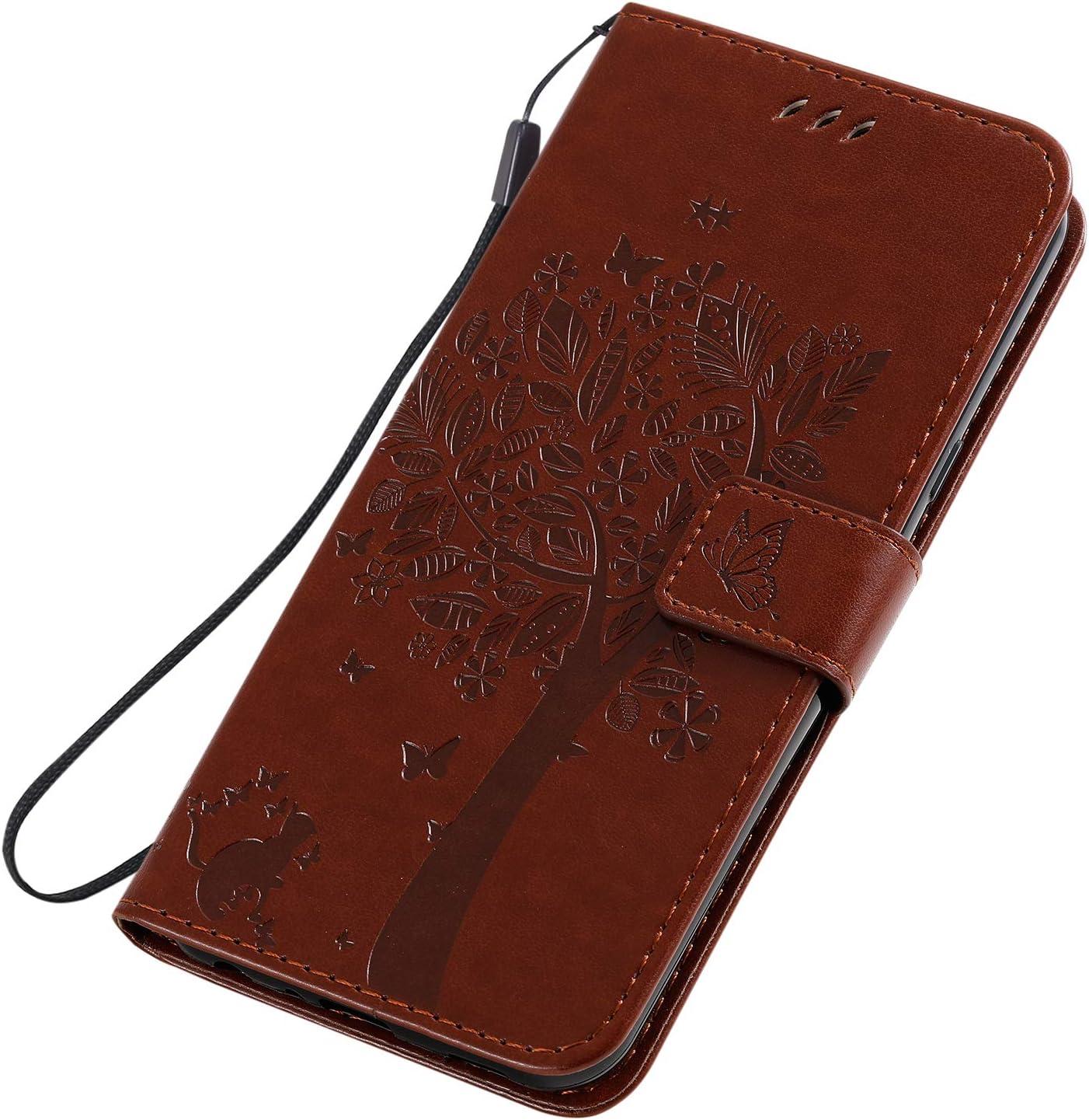 Shockproof Leather Flip Cover Case for LG K50 NEKTU080738 Red NEXCURIO Wallet Case for LG K50 LG Q60 with Card Holder Side Pocket Kickstand LG Q60