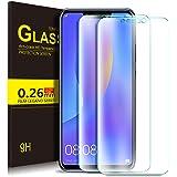 KuGi Huawei P Smart+ Protection Ecran,Huawei P Smart Plus Ultra Résistant Film Protection écran Glass [Dureté 9H] Screen Protector Huawei P Smart Plus(Pack de 2)