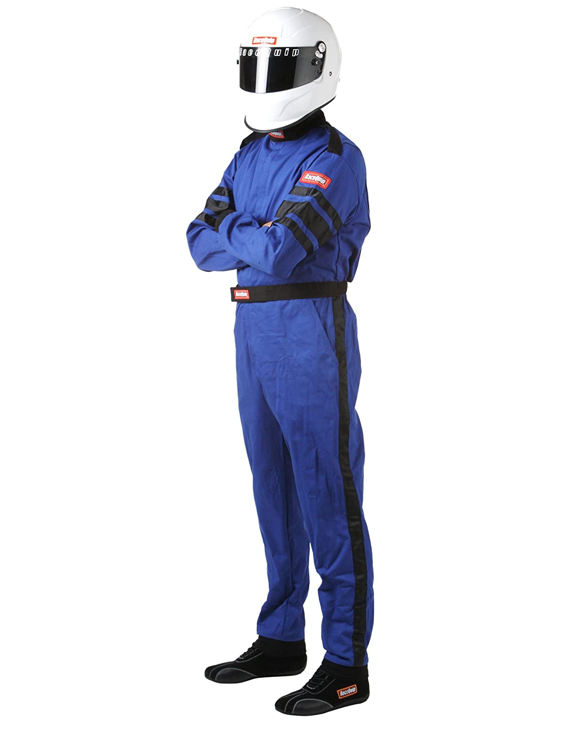 RaceQuip 110018 110 Series XXX-Large Red SFI 3.2A//1 Single Layer One-Piece Driving Suit