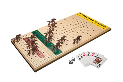 Amazon Across The Board Horseracing Gametop Maple Sports Impressive Wooden Horse Racing Game
