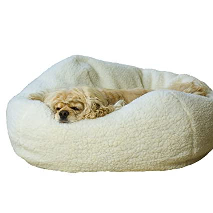 Amazoncom Carolina Pet Co Sherpa Puff Ball 26 Pet Beds Pet