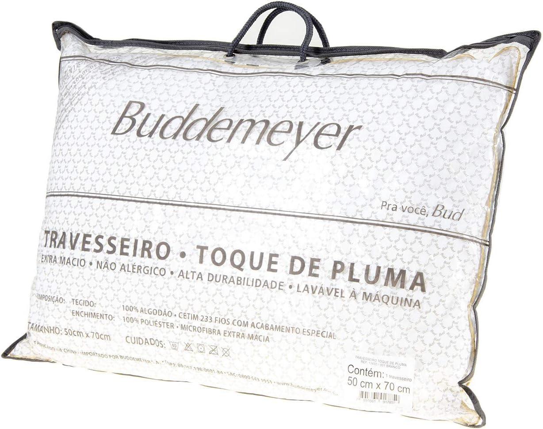 Travesseiro Toque de Pluma, Avulso, 50x70 cm, , Branco, Buddemeyer por Buddemeyer