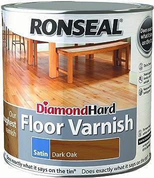 Ronseal Diamond Hard Floor Varnish Dark Oak Satin 2 5l Amazon Co