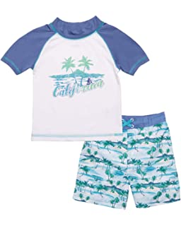 618d49187d Mick Mack Baby Boys 2-Piece Rash Guard and Trunk Swimsuit Set (Infant &