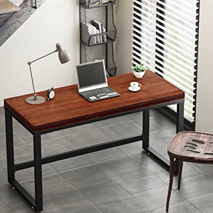 Elegant Tribesigns 55u201d Rustic Computer Desk, Vintage Industrial Style Home Office  Desk PC Laptop Study