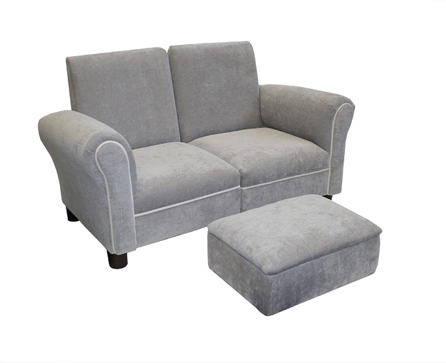 Amazon.com : Newco Kids Sofa Set, Grey : Childrens Upholstered Armchairs :  Baby