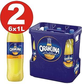 2 x 6 limonada Orangina amarilla 1 litro - 12 botellas de PET en cajas originales