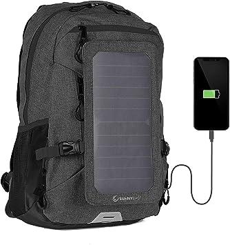 Sunnybag Mochila Solar Explorer+ | con Panel Solar de 6W para Cargar el teléfono móvil |Mochila 15L para Universidad, Trabajo, Ocio | Compartimento ...