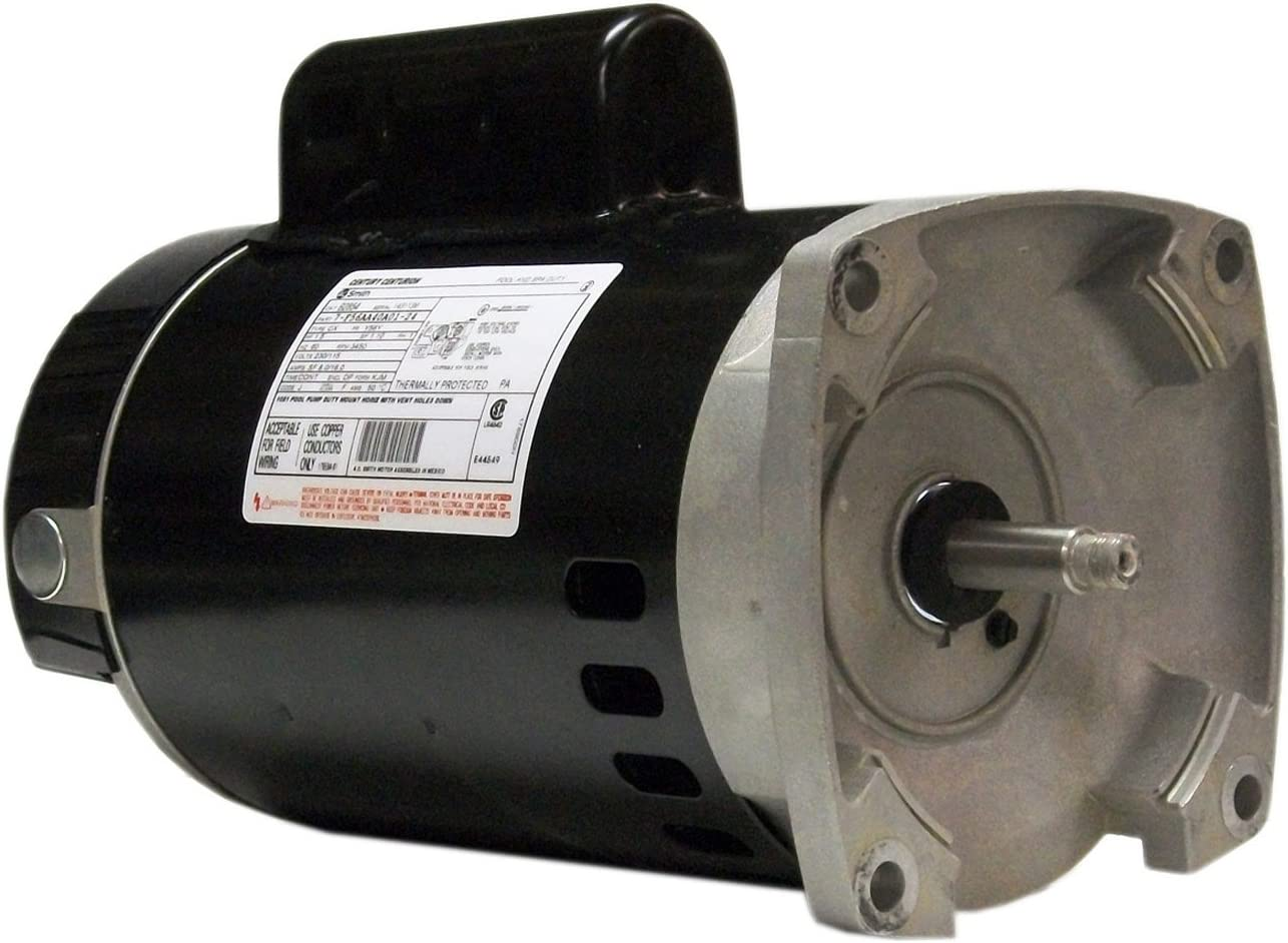 B007ATO0W8 A.O. Smith B2848 1 HP, 3450 RPM, 1 Speed, 230/115 Volts, 8.0/16.0 Amps, 1.65 Service Factor, 56Y Frame, PSC, ODP Enclosure, Square Flange Pool Motor 71x0W1omNpL.SL1323_
