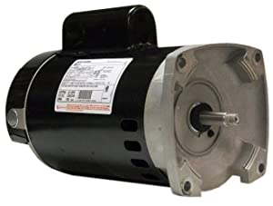 A.O. Smith B2848 1 HP, 3450 RPM, 1 Speed, 230/115 Volts, 8.0/16.0 Amps, 1.65 Service Factor, 56Y Frame, PSC, ODP Enclosure, Square Flange Pool Motor