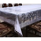 Kuber Industries™ White Printed Dining Table Cover 6 Seater (Dimension-60*90 Inches) KI16515