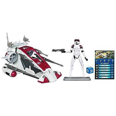 Star Wars Republic Scout Speeder: with ARF TROOPER: Toys & Games