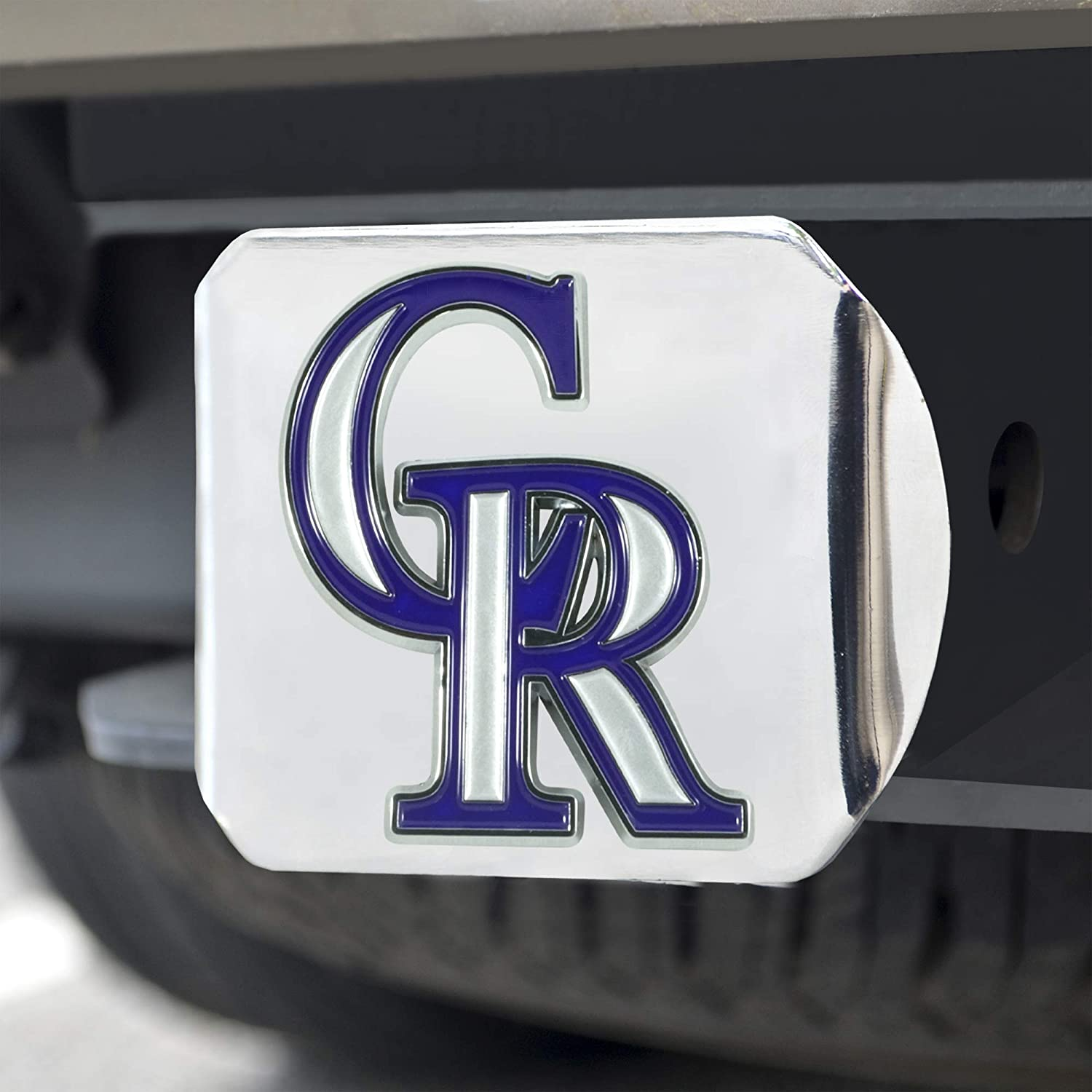 Colorado Rockies Color Hitch Cover FANMATS 26578 MLB Chrome