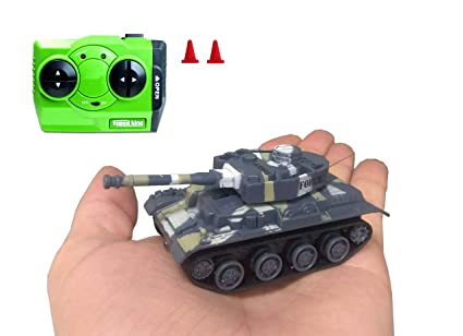 Mini RC Tank – Remote Control Micro Military with Radio Remote Small Kids  Toy Tank Off Road Action Styles Colors Vary