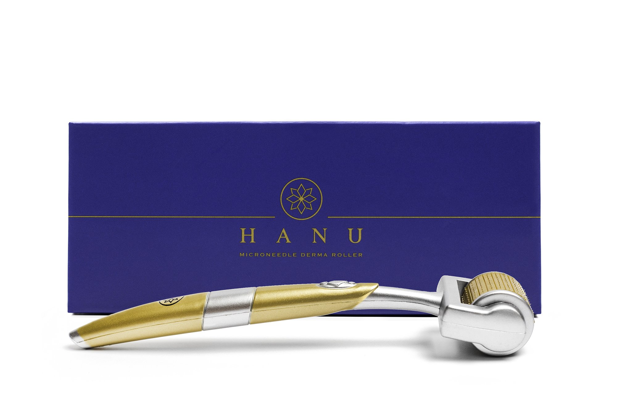 Premium Micro Needle Derma Roller – Professional Style Cosmetic Needling Kit for Facial Nose Body Skin Care | 0.25mm 192 Titanium Micro Needles | Free Storage Case | ZGTS Skincare Tool by HANU Beauty