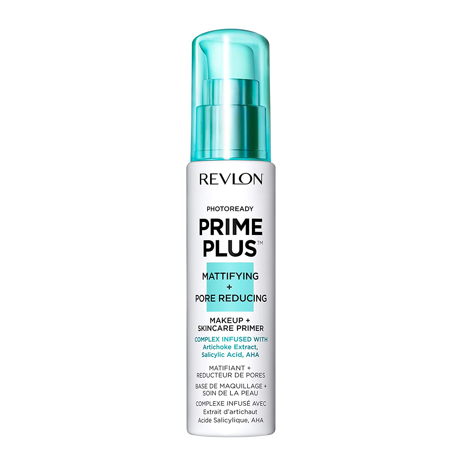 Revlon PhotoReady Prime Plus Primer, Mattifying and Pore Reducing Skincare Makeup with Salicylic Acid and AHA, 1 oz