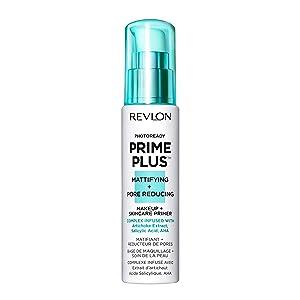 Revlon PhotoReady Prime Plus Primer, Mattifying and Pore Reducing Skincare Makeup with Salicylic Acid and AHA, 1 oz