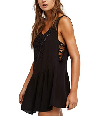 887702983d0 Free People Women s Delphine Embellished Slip Black Small at Amazon Women s  Clothing store
