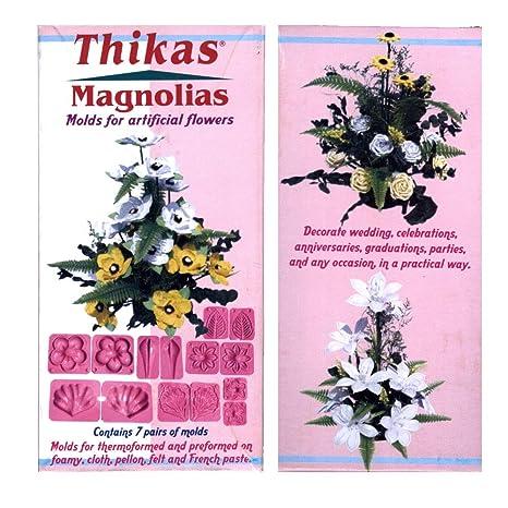 Thikas moldes para Flores de termoformado Magnolias Contiene 7 Pares de moldes