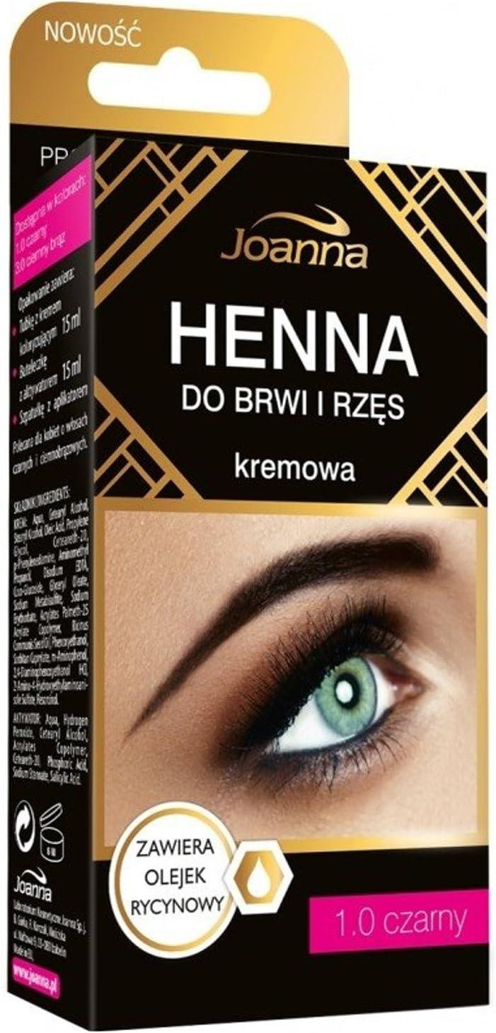 Joanna – Henna Color Crema para cejas y pestañas – 1.0 Negro