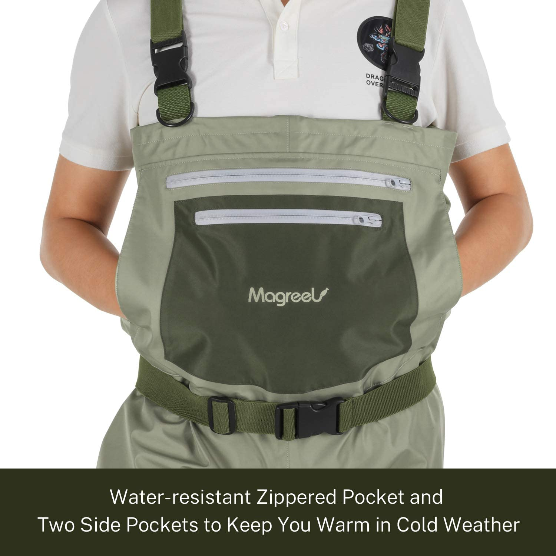 Magreel Wathose Anglerhose atmungsaktiv wasserdicht mit verstellbarem H-R/ücken f/ür Herren und Damen