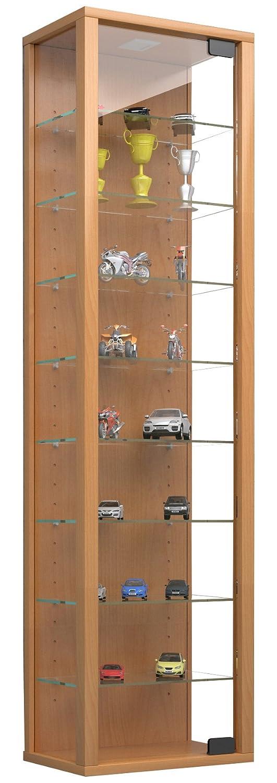 VCM Vitrine Vitrine Vitrine Wandvitrine Sammelvitrine Glasvitrine Wand Regal Schrank Glas Hängevitrine ohne Beleuchtung Weiß Stano Maxi 0f54b6