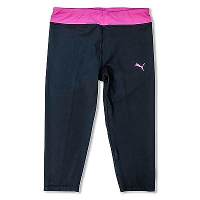 PUMA Big Girls Capri Leggings Activewear Workout Gym Crop Pants Black Yoga Pants