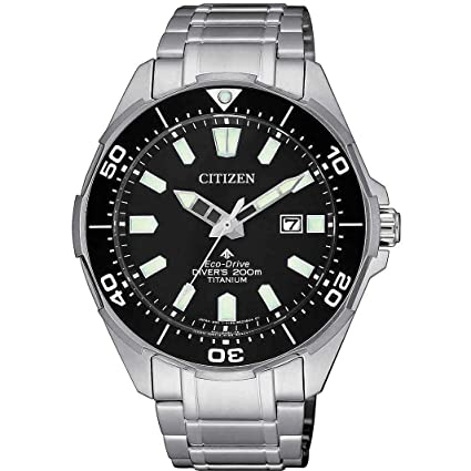 Citizen Promaster Diver 200 MT Eco Drive Super Titanio bn0200 – 81E Reloj de Pulsera para