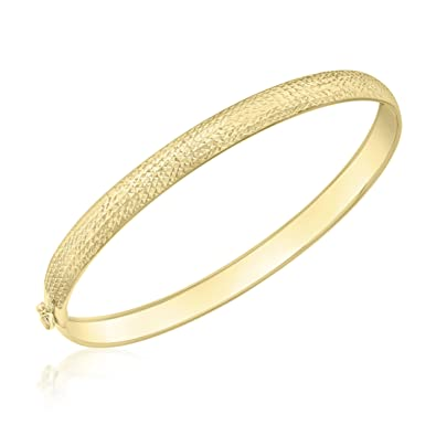 Carissima Gold 9 ct Rose Gold 4 mm Stardust Bangle DXXIEy