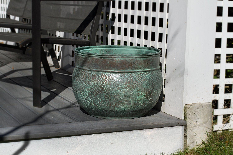 Good Directions 457 Key West Hose Pot, Holds Up To 150-Feet of Hose, Blue Verde Steel