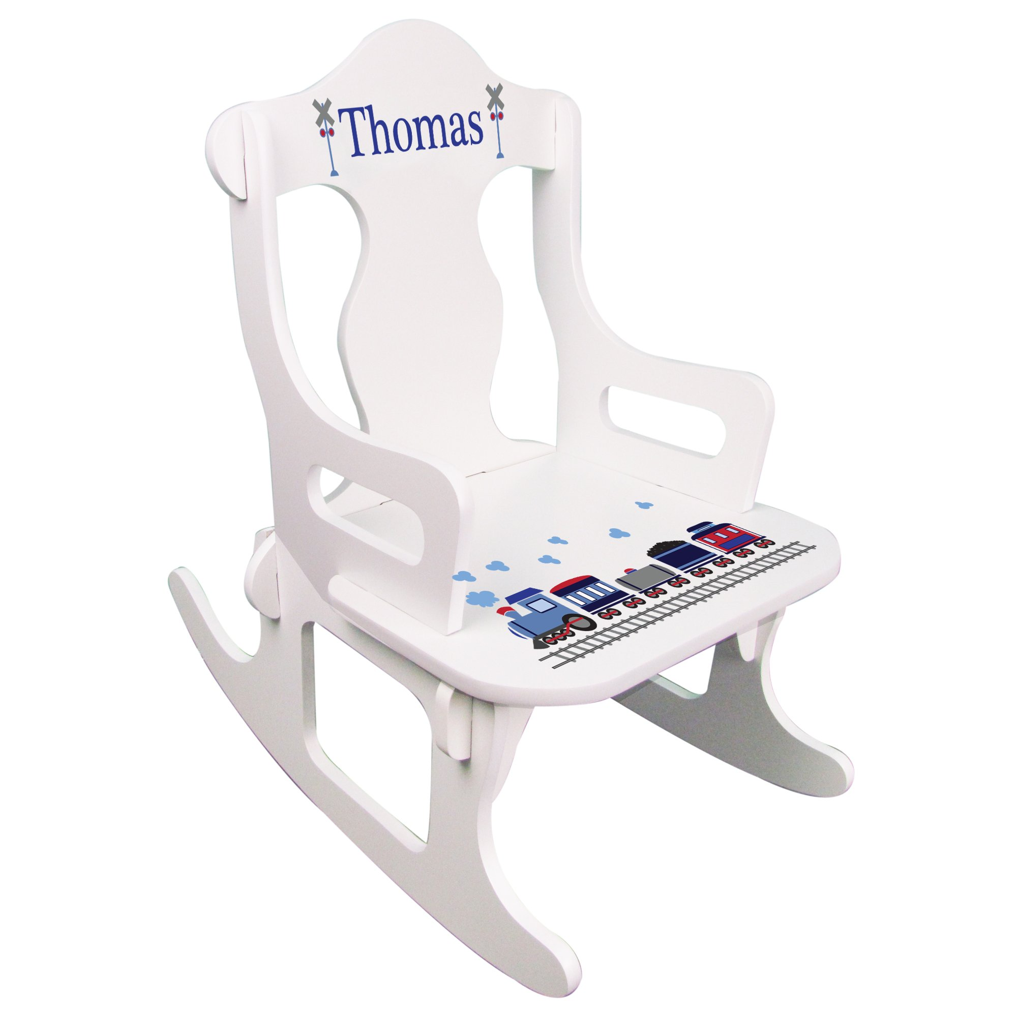 Personalized Child's Train Puzzle Rocking Chair