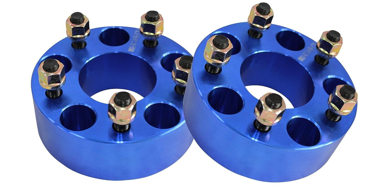 ワイドトレッドスペーサー ブルー 2枚セット PCD114.3 5H M12×P1.25 厚さ50mm SPB0150 B00IY5GPN4