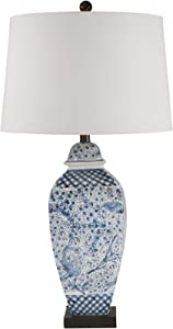 "Sagebrook Home 50228-02 Ceramic 31"" Ginger Jar Table Lamp, Blue/White"