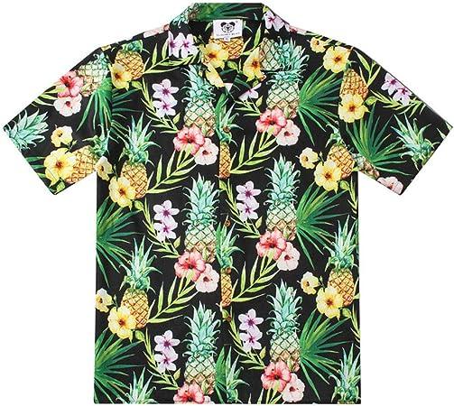 WODENINEK Camisa de Verano para Hombre Playa Vacaciones Hawaii Estampado Frutas Piña Delicada Tropical Ocio Suelto Manga Corta,S: Amazon.es: Hogar