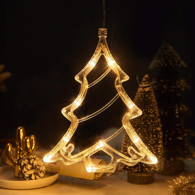 Christmas Window Decoration Light, LED Warm White Christmas Lamp with Suction Cup, Decorative Lamp PerfectforChristmas Trees Shop Restaurant Window Light Decoration HomeBathroomVanityMirror