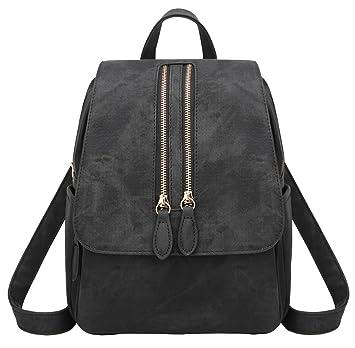 eb8c93851a856 HopeEye Damen Rucksack Elegant Damen Daypack Schultertasche Reiserucksack  Tasche Vintage Leder Backpacks Casual Wasserdichte Freizeitrucksack Für
