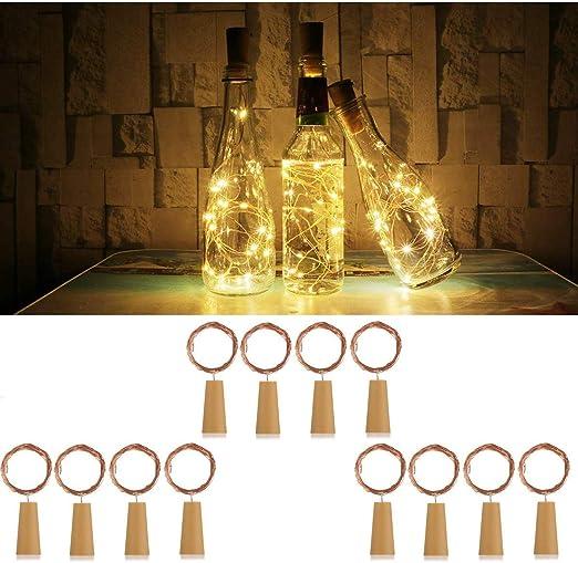 DOOK Luces de Botella de Vino,2M / 20 LED lámpara Decorada,DIY ...