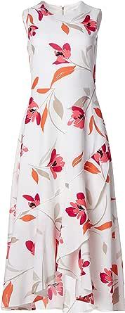Calvin Klein Womens Sleeveless Seamed Midi with Flounce Hem Dress Sleeveless Dress