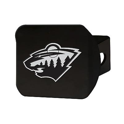 "FANMATS 21007 NHL - Minnesota Wild Black Hitch Cover, Team Color, 3.4""x4"": Automotive"